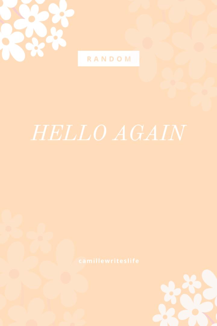 Hello, again!